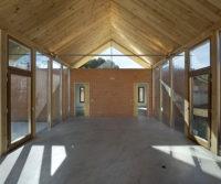 Obra en el Chalet con tejado de madera situado en el Pinar Antequera