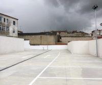 Construccion del parking para supermercados del grupo DIA en Medina de Rioseco