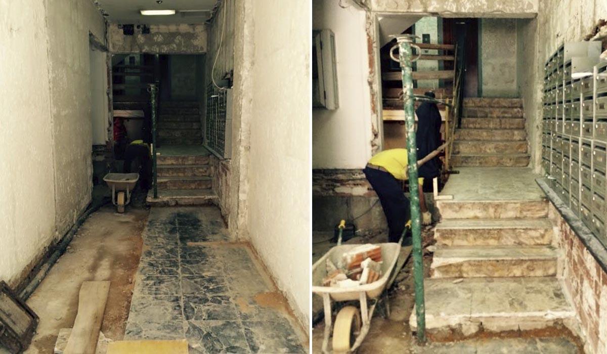 demolicion-de-portal-y-escalera-calle-cerrada