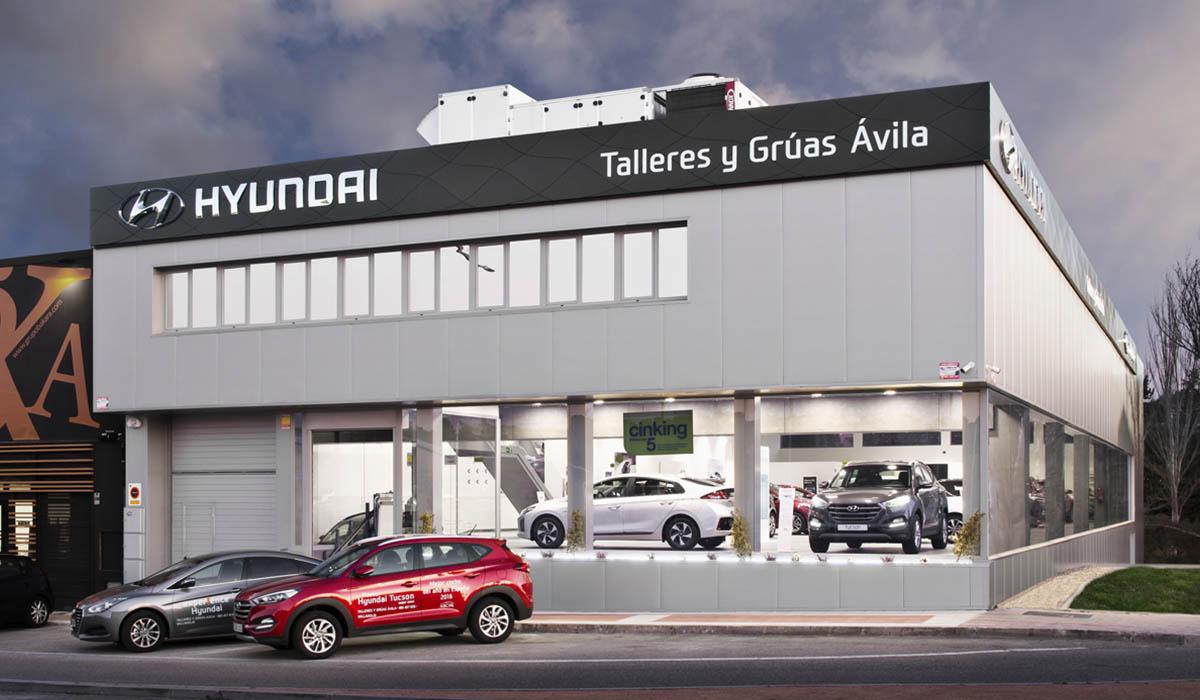 fachada-reforma-y-adecuacion-concesionario-Hyundai-Valladolid