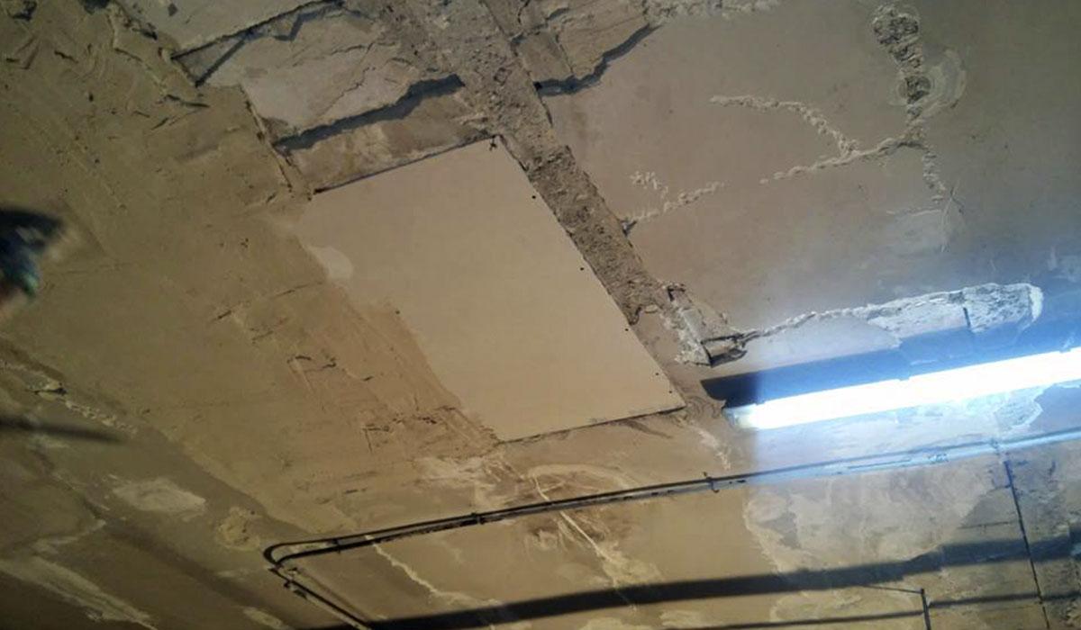 techos-garage-comunidad-san pio-con-filtraciones-antes-reforma