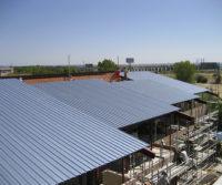 Construyendo nueva cubierta rehabilitacion universidad