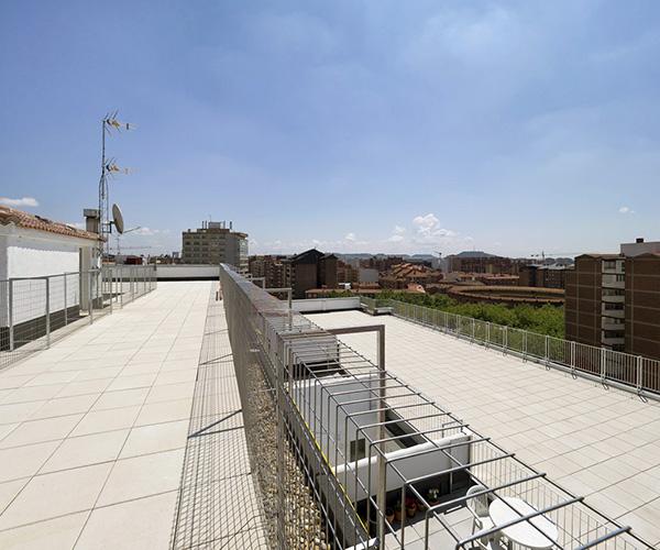 Nueva cubierta en rehabilitacion integral edificio Valladolid