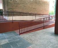 Nueva rampa acceso portal en urbanizacion San Pio Valladolid