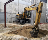 Obra excavacion deposito aprovechamiento aguas hospital