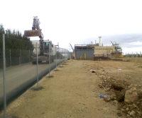 Obra instalaciones caseta gas fabrica Campofrio
