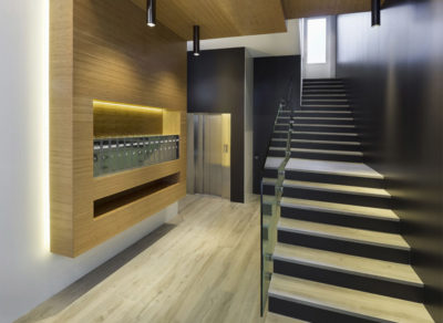 reforma de portal bajada cota cero ascensor Felipe II Valladolid