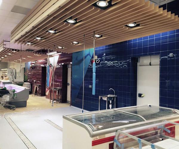Reforma supermercado seccion frescos carniceria pescaderia