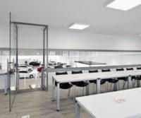 Sala reuniones tras reforma adecuacion comercial concesionario Hyundai